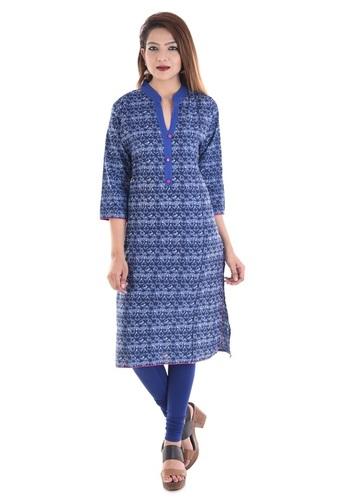 Girl Indigo Design Cotton Kurti