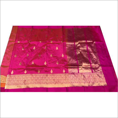 Printed Banarasi Saree
