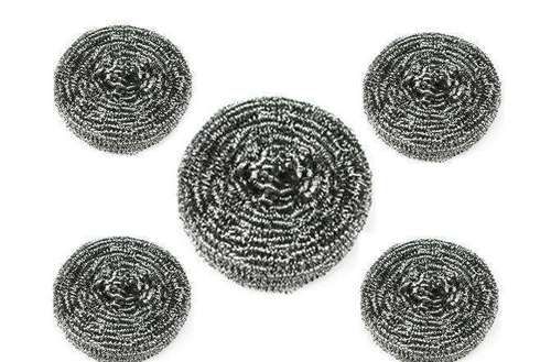 flat stainless steel scourers