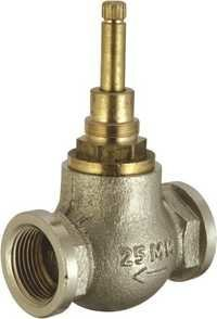 Brass Flush Cock Heavy 25mm Half Turn