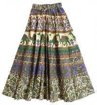 Sanganeri Print Skirt