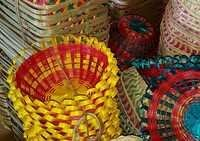 Colorful Bamboo Basket Collection