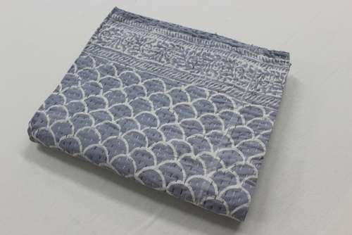 Kantha Work Bedcover