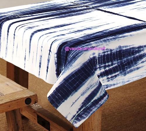 Tie Dye Shibori Table Cover