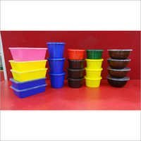 Multicolour Plastic Container