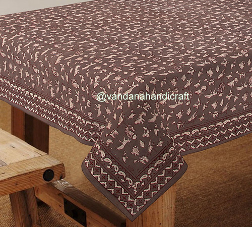 Jaipur Hand Block Printed Table Cover