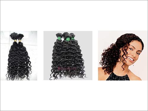 Loose Bulk Hair ( Curly ) Remy Virgin Single Drawn Hair