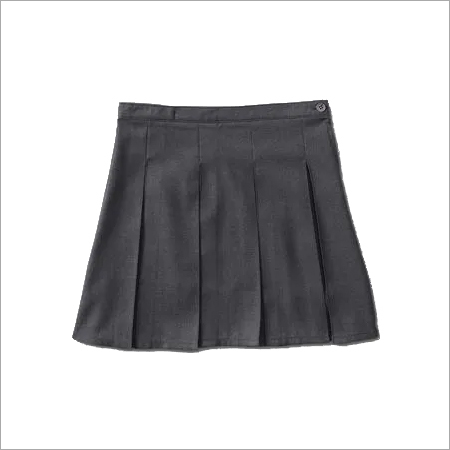 Pleated & Plain Girl'S School Skirt