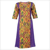 Multi Coloured Printed Cotton Kurtis