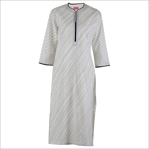 Off- White Cotton Kurti