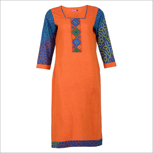 Printed Straight Cotton Kurta