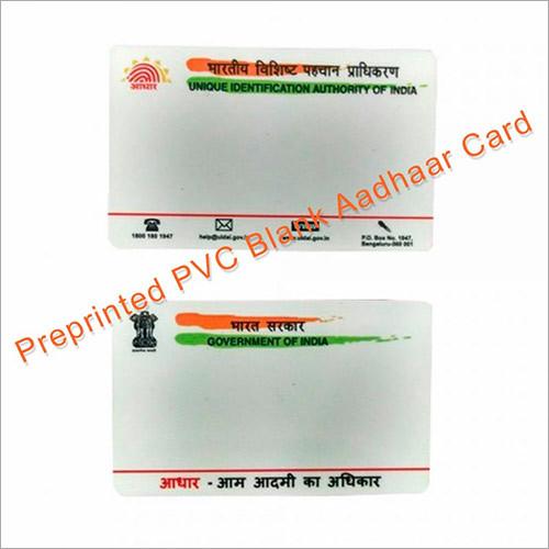 PVC Pre Printed Aadhaar Card