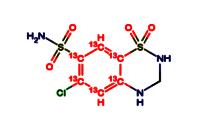 Hydrochlorothiazide-4a,5,6,7,8,8a-13C6