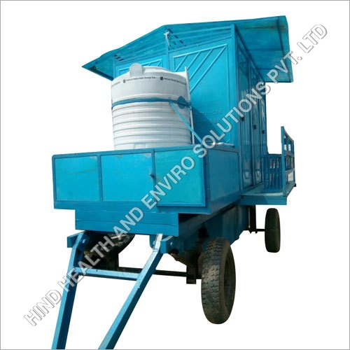 Six Seater Mobile Toilet Trolley