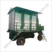 Six Seated Classic Mobile Toilet  Trolley
