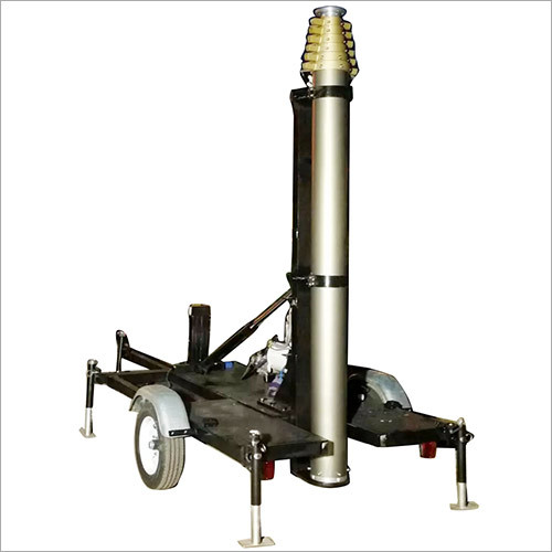 15m Mobile Trailer Mast Tower for mobile telecom