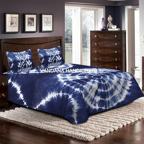Blue Indigo Printed Bedsheet HAND BLOCK PRINTED COTTON