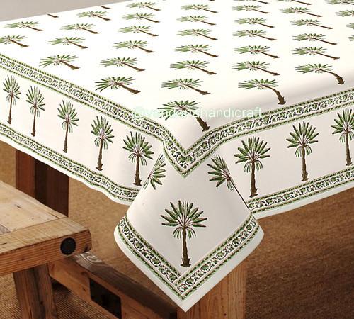 Hand Block Printed Table Cover Jaipur HANDMADE