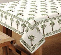 Hand Block Printed Table Cover Jaipur HANDMADE