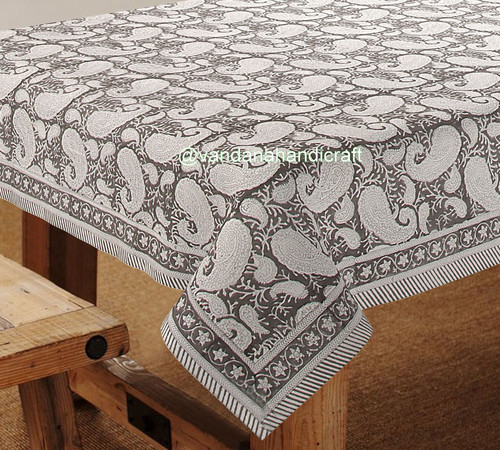 Indian Traditional Handblock Printed Table Cover