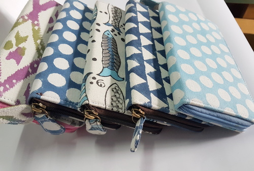 Cotton Hand Block Printed Canvas Clutch Bags
