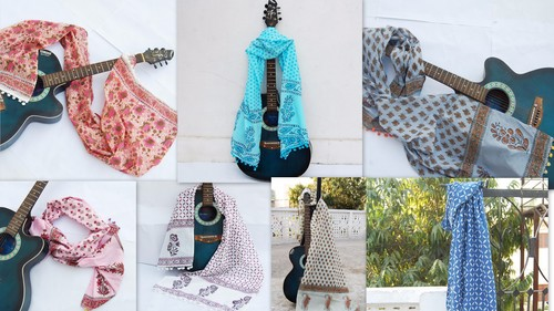 Cotton Printed Scarves & Stoles