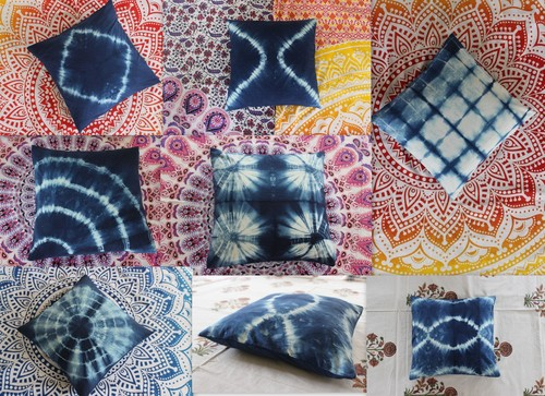 Tie Dye Cotton Cushion Cover shibori tie dye