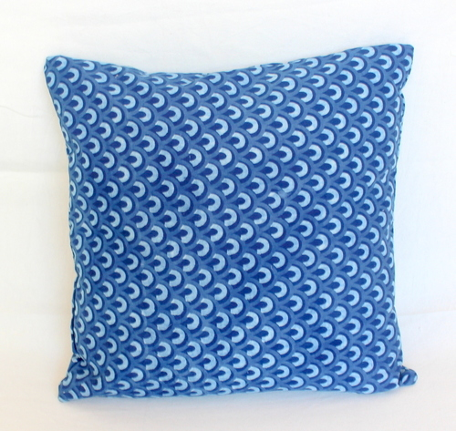 India Block Printed Cushion INDIGO BLUE