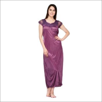Oleva Women Satin Nightwear Purple