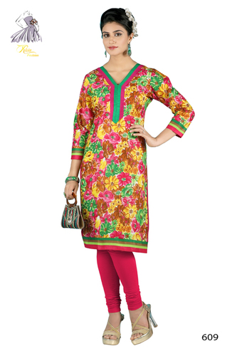 Fahionable Printed Cotton Kurti