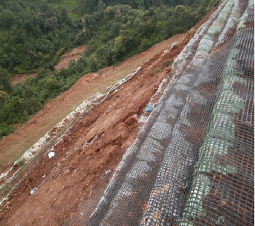 Geogrid Gabion For Rockfall Protection