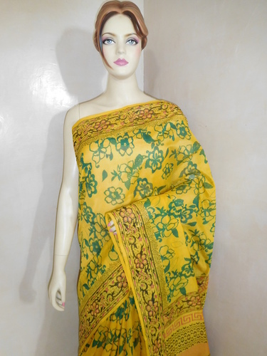 Chanderi Silk Block Printed Saree