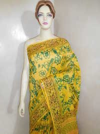 Chanderi Silk Block Printed Saree