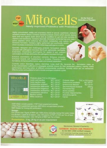 Poultry Probiotics with Prebiotics