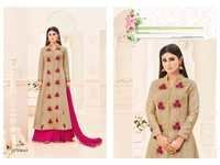 Buy Designer Lehanga Style Embroidered Suit Online