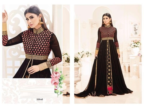 Shop Fully Zari Work Floor Touch Suit Online