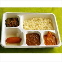 5 Compartment Ecofriendly Square Plate