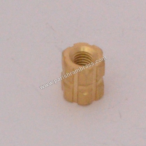 Brass Hex Wood Inserts