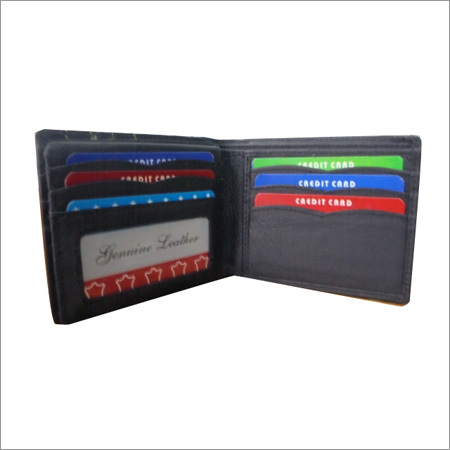 Mens Leather Black Wallet