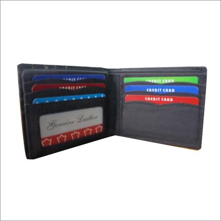 Mens Leather Black Wallet