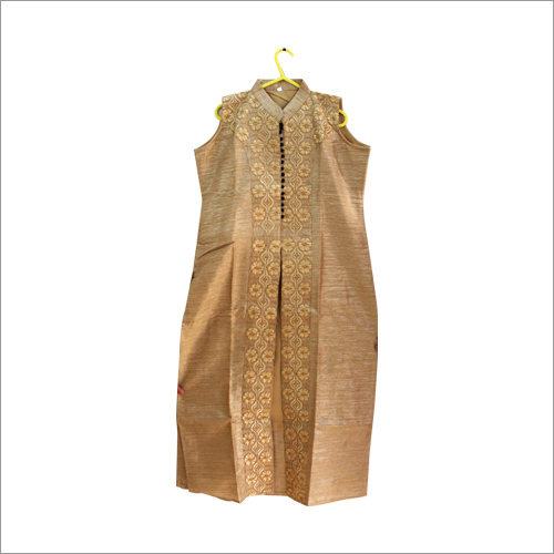 Brocade Golden Embroidered kurti