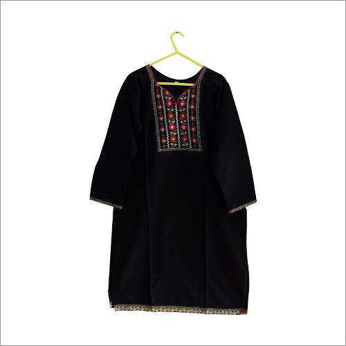 Black Embroidery Kurti