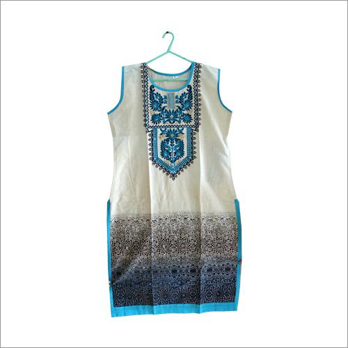 Khadi Embroidery Kurti