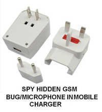 SPY HIDDEN GSM BUG/MICROPHONE IN MOBILE PHONE CHARGER