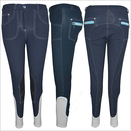 Denim Knee Patch Breeches