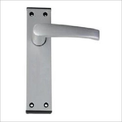 Lever Latch on 6 Plate With Black End Cap