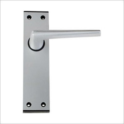 Straight Lever Latch on 6 Plate With Black End Cap