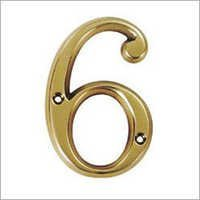 Brass Door Number 6