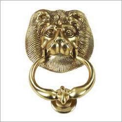 Gold Colour Lion Knocker