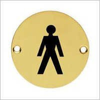 Brass Male Sign